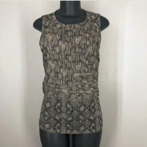 The Limited Cami Tank Large Stretch Nylon Gray